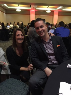 Regina with John Powers of Keller Williams Realty at annual dinner benefiting CCA